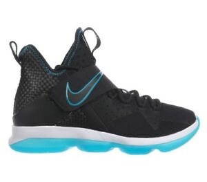 50f96cf07142 Nike Lebron 14 PRM Red Carpet Mens 943323-002 Black Glass Blue Shoes ...