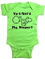 Nintendo Yoshi One Piece yo-i-shi'd My Diaper Baby Bodysuit