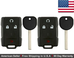 Details about 2x New Replacement Keyless Key Fob Remote For Chevy GMC GM  M3N 32337100 B116 PT