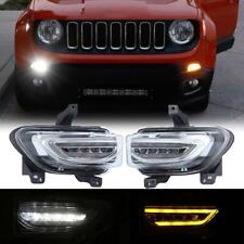 2x High Power 102SMD White LED Daytime Running Light For Jeep Renegade 2015-2017