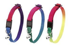 Karlie-Tipo-Sportiv-Collar-de-Gato-Colores-Del-Arco-Iris-Nailon
