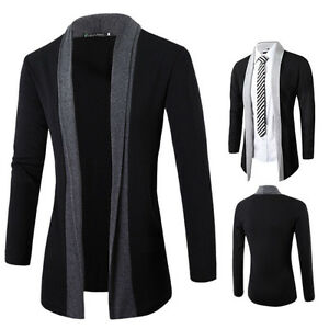 009bb8835f New Fashion Men's Stylish Slim Fit Knit V-Neck Cardigan Long Sweater ...