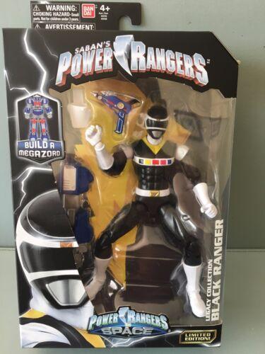 Power Rangers Legacy in Space Black Ranger Neuf en boîte scellée édition limitée