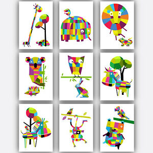 Superb Image Is Loading Art Print GEOMETRIC ANIMAL Collection Kids Picture Poster