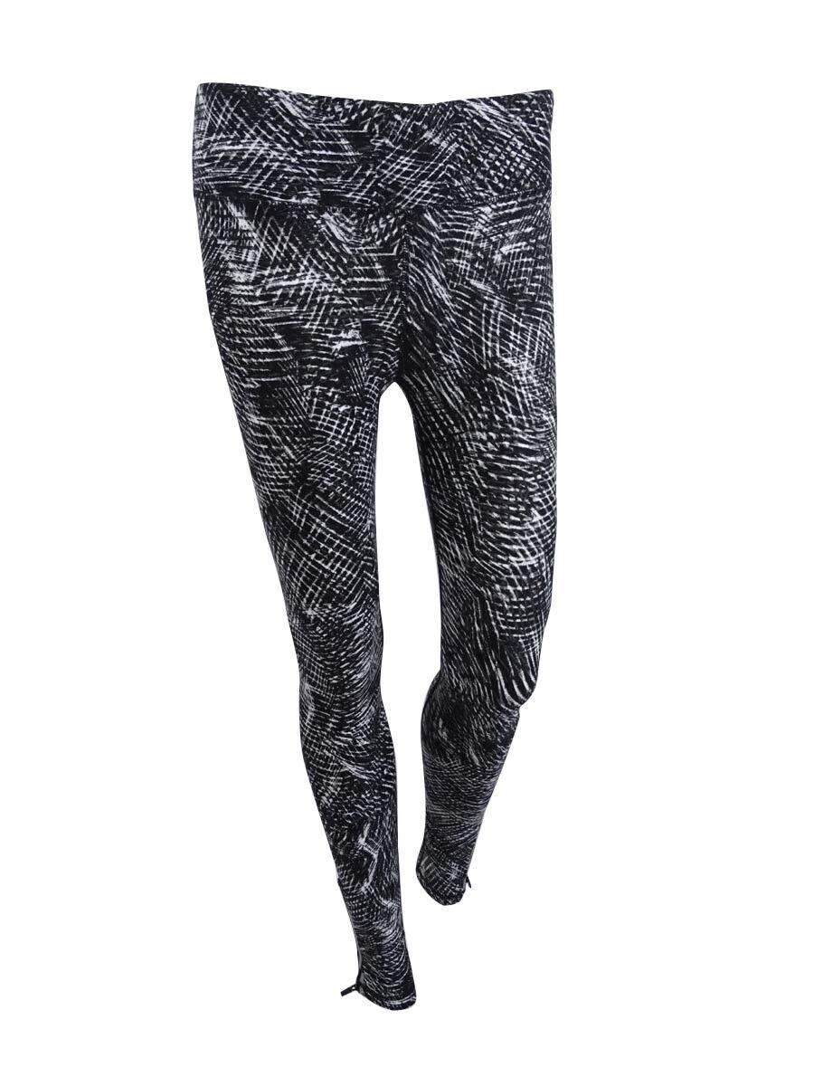 DKNY Women's Sport Printed Athletic Leggings XS, Charcoal
