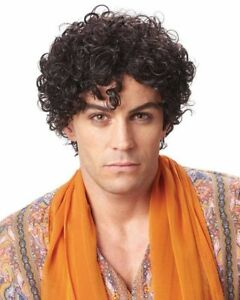 Details About Adult Mens Persian Prince 60s 70s Male Short Curly Costume Wig Brown Jheri Curls