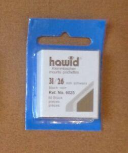 HAWID-STAMP-MOUNTS-BLACK-Pack-of-50-Individual-31mm-x-26mm-Ref-No-6025