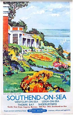 Framed 30 x 40 Official Print Southend On Sea By British Railways