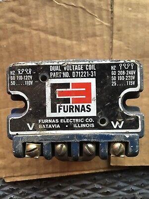 FURNAS COIL CAT# D71221-31 110-220-208-240 VOLT 60 HZ