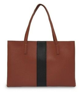 NEW -  VINCE CAMUTO   'VC-LUCK-TO'  Dark  Rum  LEATHER  LUCK TOTE