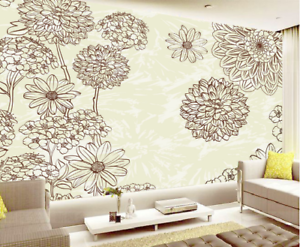3D Sketch Petal 556 Wallpaper Murals Wall Print Wallpaper Mural AJ WALL AU Lemon