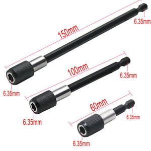 3Pcs-1-4-Hex-Shank-Magnetic-Screw-Driver-Extension-Bit-Quick-Release-Holder-Tool