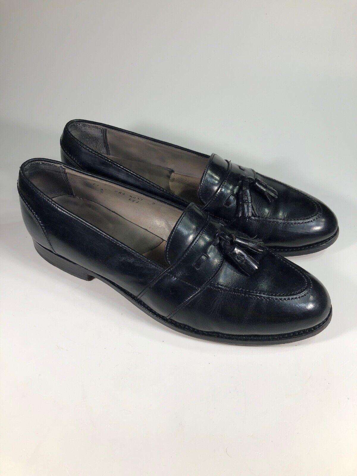 fino al 60% di sconto Alden  516 nero nero nero Leather 691 Slip On Tassel Loafers Uomo Dimensione 11 A C  sconti e altro