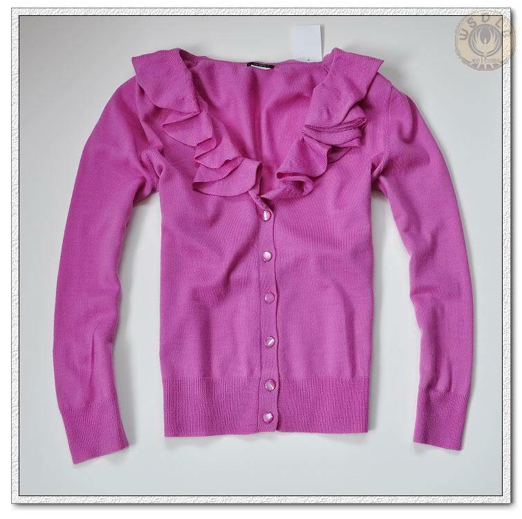 NWT NWT NWT J.Crew Merino Wool pink Corsage Cardigan Sweater Light Berry Size M 7cb4e8