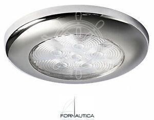 Plafoniere Per Nautica : Plafoniera luce di cortesia a 6 led 12v ghiera inox accessori