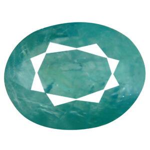 1-27-CT-Ovale-Taglio-9-x-7-mm-Non-Scaldato-Non-Trattato-Verdastro-Blu