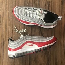 f08c764e731 A1189G Nike Air Max 97 Platinum University Red 921826-009 Sneakers Size 9.5  NEW