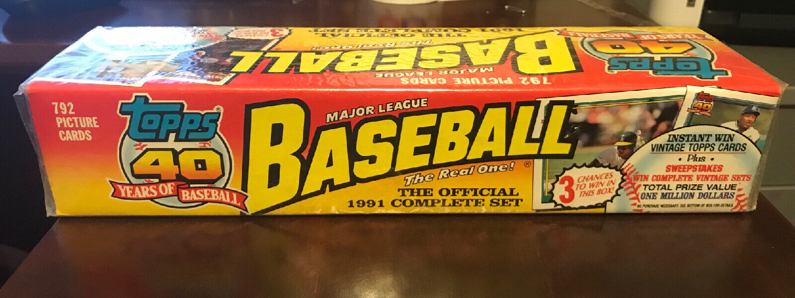 Topps 40 Years of Baseball the Official 1991 Complete Set