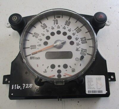 BMW Mini Cooper One S JCW Speedo Clock Instrument Cluster R50 R52 R53 6972076