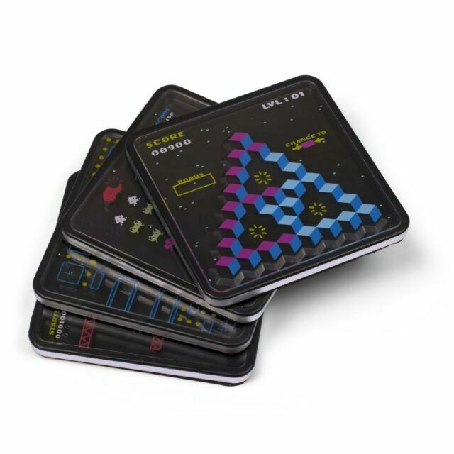 Set Of 4 X Retro Classic 70s 80s Arcade Games Puzzle Drink Coasters For Sale Online Ebay
