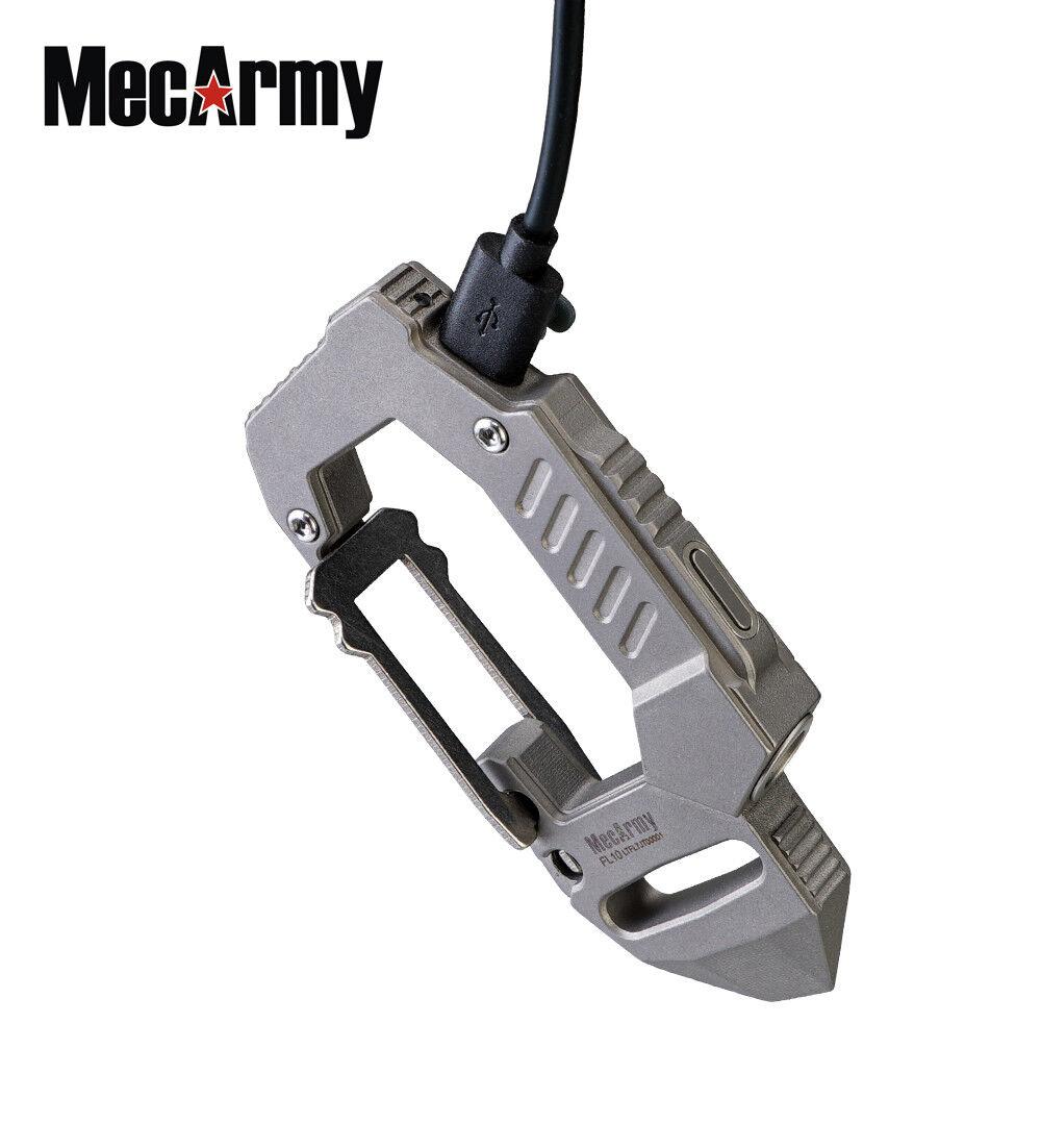 Titanium rechargeable EDC carabiner 360 lm Mecarmy, flashlight FL10, Mecarmy, lm sandblast e42c67