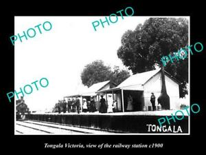 OLD-LARGE-HISTORIC-PHOTO-OF-TONGALA-VICTORIA-VIEW-OF-THE-RAILWAY-STATION-1900