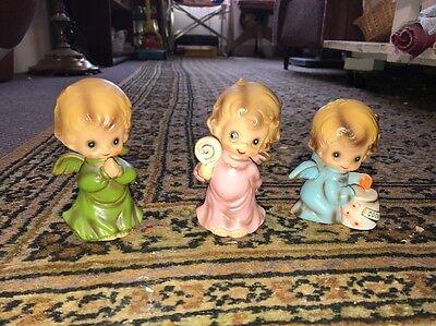 Lot Of 3 Josef Originals Wee Folks Angel Figurines