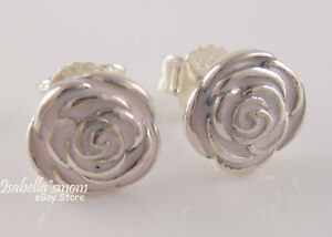 Rose garden authentic pandora pink enamel flower stud earrings image is loading rose garden authentic pandora pink enamel flower stud mightylinksfo