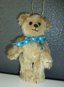 Artist-Tan-Teddy-Bear-Ornament-Bears-by-Christine-6-034-Jointed-Mohair