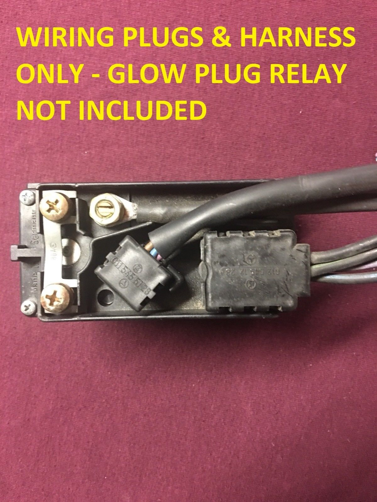 Mercedes Glow Plug Relay Wiring Diagram