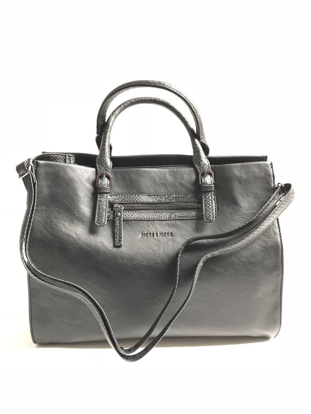 More & More Damen Handtasche Handtasche Handtasche Schwarz Snake 50238-9000 | Fairer Preis  | Starker Wert  | Authentisch  5f3555