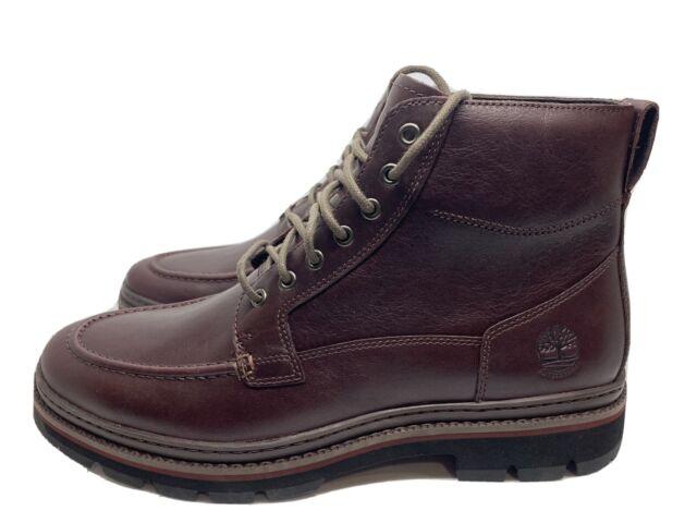 Intercambiar Secretario Árbol genealógico  Timberland Men's Port Union Moc-toe Waterproof 6 Inch BOOTS Burgundy A28ZZ  Sz 13 for sale online | eBay