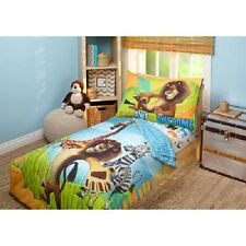 Madagascar Behold My Mane 4-Piece Toddler Bedding Set -  Lion - Zebra