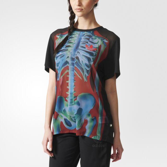 adidas Originals X Rita Ora O ray T Shirt Trefoil Print Fashion Top (B Grade)
