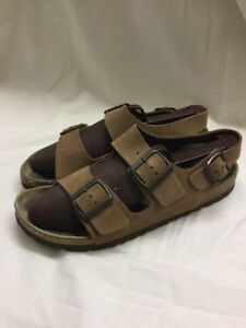 c9d6f7bf62 Women's Birkenstock Milano Brown Nubuck Two Strap Slingback Sandals ...