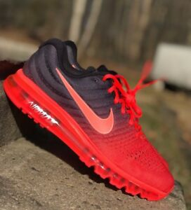 Details about Nike Air Max 2017 Mens Running Shoe CrimsonBlack 849559 600 NEW Multiple Sizes