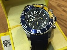 13728 Invicta 48mm Men Pro Diver Quartz Chrongraph Carbon Fiber Dial Strap Watch
