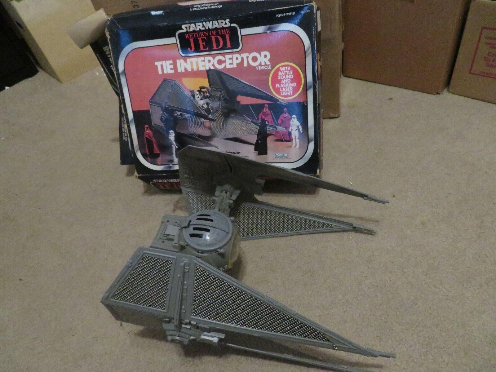 Vintage Star Wars ROTJ The Interceptor Vehicle Kenner Complete w Box 1983