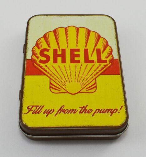 Superb Vintage Tin Plate Keepsake Tin /'Shell Oil//Petrol/' Garage//Workshop Tobacco
