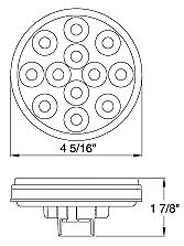 """4/"""" Inch Red 12 LED Round Stop//Turn//Tail Truck Light with Grommet /& Wiring-Qty 2"""