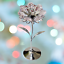 Crystocraft-Flower-Crystal-Ornament-With-Swarovski-Elements-Gift-Boxed-Pink thumbnail 2
