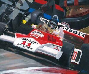 Litho-1976-Marlboro-McLaren-M23-11-James-Hunt-GBR-by-Toon-Nagtegaal-OE