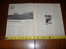 1963 VOLKSWAGEN VW BEETLE BUG  - ORIGINAL VINTAGE ARTICLE LITERATURE