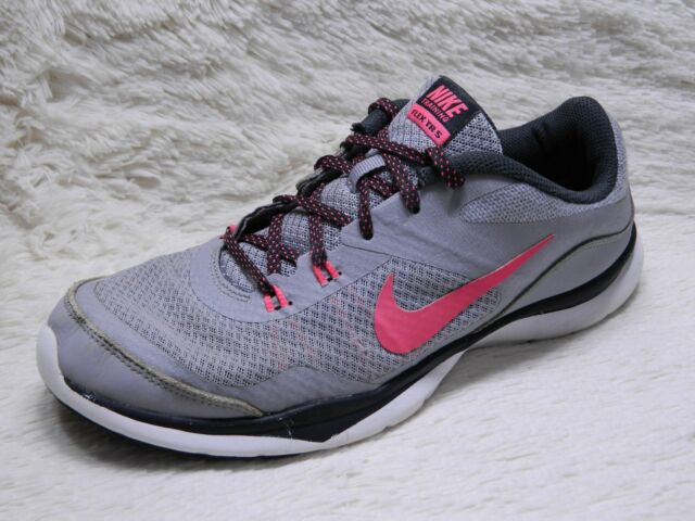 brand new a7172 085e0 Nike Flex Trainer 5 Training Shoes Womens Size 8 Grey Pink Running FREE S H