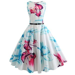 Details about Vintage 50s 60s Retro Style Rockabilly Pinup Housewife Party  Swing Dance Dress