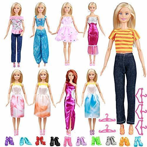 Accesorios de ropa de muñeca para-muñecas barbie juguetes para niñas 24Piezas