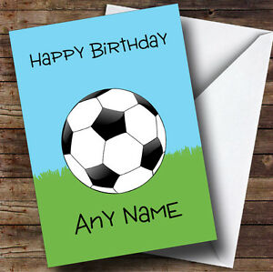 Football-Fan-Ball-On-Grass-Personalised-Birthday-Greetings-Card