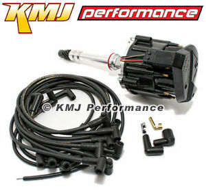 Details about Small Block SBC Chevy 305 350 400 HEI Distributor & Moroso  Wires 90* Black Kit