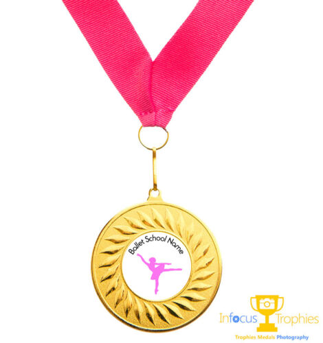 Ballet Medal Personalised With Your Logo//Name Ribbon Fast P/&P