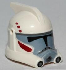 Lego Star Wars White Minifig Headgear Helmet SW Clone Trooper with Dark Red #H64